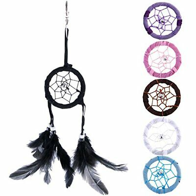Small Colourful Dream Catcher Feathered Keyrings