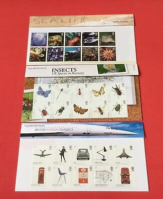 Gb 2007-2008-2009 Presentation Packs Individually Priced In Excellent Condition.