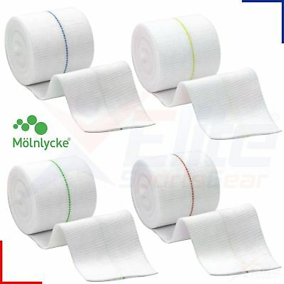 Tubifast Two Way Stretch Elasticated Tubular Bandage Yellow Blue Red Green Line