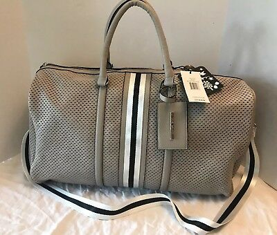 b59fee105fb STEVE MADDEN LARGE DUFFLE TRAVEL WEEKENDER LUGGAGE CROSSBODY Bisque NWT $128