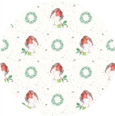 Wrendale Robin Gift Wrap Wrapping Paper-  50cm X 70cm