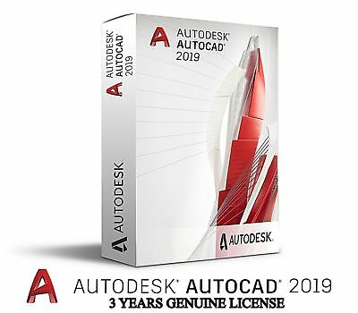 Autodesk AutoCAD 2019 | INSTANT DOWNLOAD  | 3 Year License | Full Software |