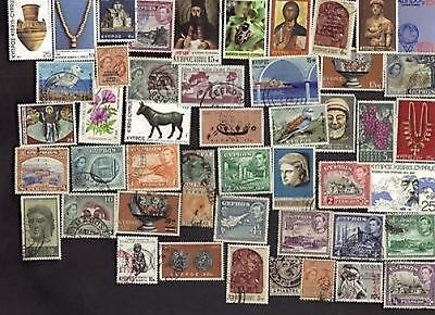 48 All Different CYPRUS Stamps