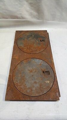 Vintage Cast Iron Wood Stove Top Burner Cover multi  Plate Lid Antique  8""