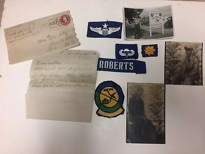 Lot of 9 Patches WW2 US Military Patches Photos Letter