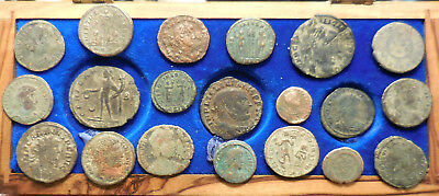Lot of 20 F to VF Ancient Roman Coins! Largest is 26 mm, Jupiter Follis Coins!