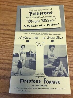 1954  Firestone Booklet Magic Minnie - A Whale Of A Pillow - Sew It Yourself