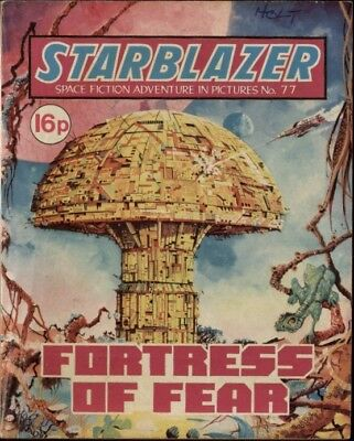 Fortress Of Fear, Starblazer Space Fiction Adventure In Pictures,no.77,1982