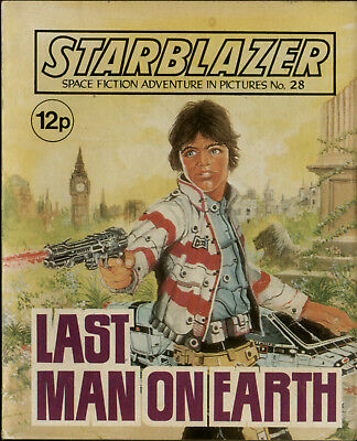Last Man On Earth ,starblazer Space Fiction Adventure In Pictures,no.28,1980