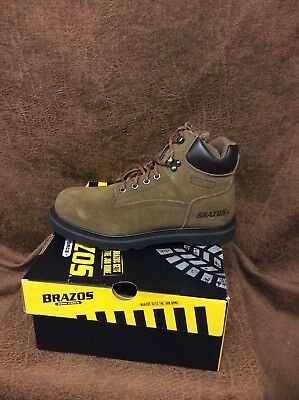 Brazos Women's Tradesman ST WS  Steel Toe Lace Up Work Boots Brand New In Box