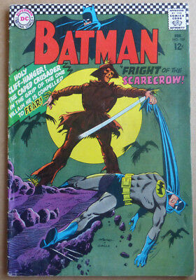 """BATMAN #189, SILVER AGE CLASSIC WITH 1st SILVER AGE """"SCARECROW""""!!! 1967."""