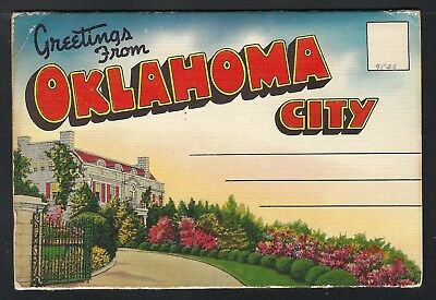 Nmstampsnstuff: Oklahoma City Vintage Fold-Out- 18 Views - Unposted