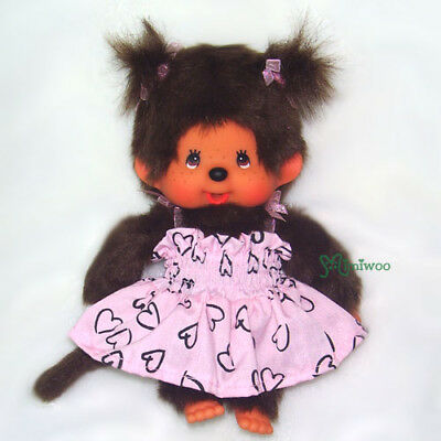 Sekiguchi Monchhichi S Size Fashion Plush Dressed Pink Sun Dress Girl ~~ RARE ~