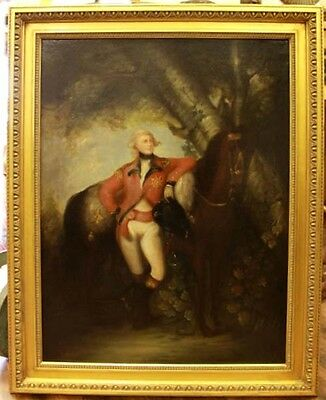 19Th C. Manner Of Sir Thomas Lawrence, Officer And Horse Oil On Canvas
