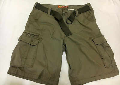 5f0f3abea0 Lee Dungarees Men's Cargo Shorts Belted 100% Cotton Size 34 Khaki Pre-Owned