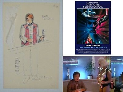 Bar Tender (STAR TREK 3 Search for Spock, 1984) production-used character Sketch