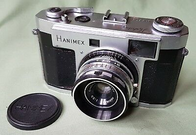 Early vintage Hanimex Holiday II Camera in Leather Case