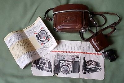 Early vintage Kodak Retina IIIc Camera in its Case with accessories