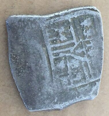 1600s Spanish Spain 8 Reales Real Cob Silver Coin Colonial Treasure Coin 27.99 g