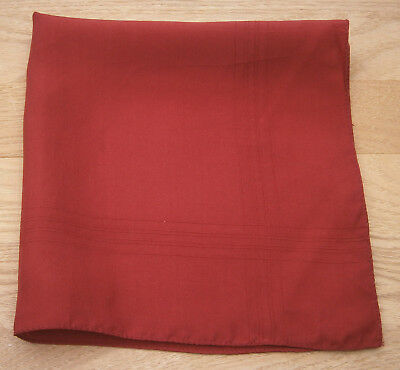 Macclesfield Silk Red Handkerchief Hankie Pocket Square Wedding Party