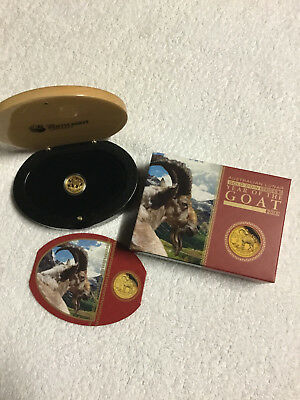 2015 Year of the Goat 1/10oz Gold Proof Coin Perth Mint Series 11
