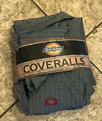 NWT New Dickies Men's Fisher Stripe Long Sleeve Cotton Coveralls Size 42 Reg