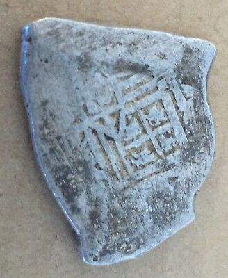 1600s Spanish Spain 8 Reales Real Cob Silver Coin Colonial Treasure Coin 27.20 g