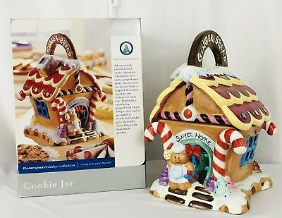 Home Trends Ceramic Ginger Bread House Cookie Jar 12""