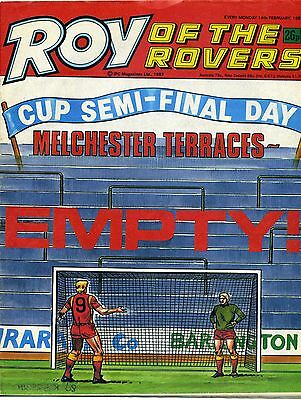 Roy Of The Rovers Paper Comic 14 February 1987