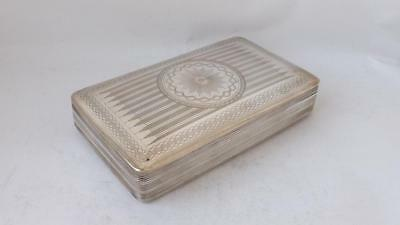 Antique Dutch Solid Silver Tobacco Box 1842/ L 12 cm/ 145 g