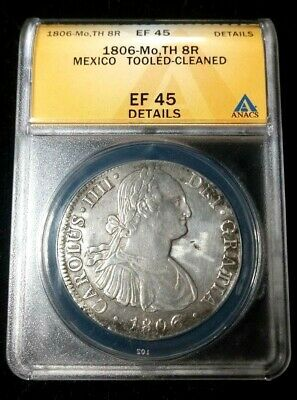 Coins: World Mexico 8 Reales 1806 Th #t24 209
