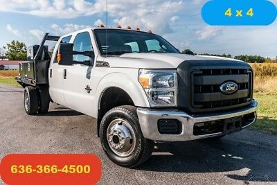 2013 Ford F350 xl Used flatbed crew cab diesel 4wd 6.7 powerstroke 1 owner