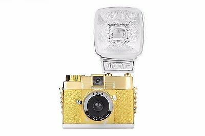 Diana Mini & Flash Gold Edition ( LIMITED EDITION ) Lomography NEW
