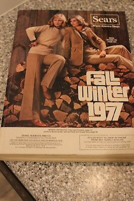 1977 Vintage SEARS Fall Winter Catalog Free Fast Shipping Very Nice!