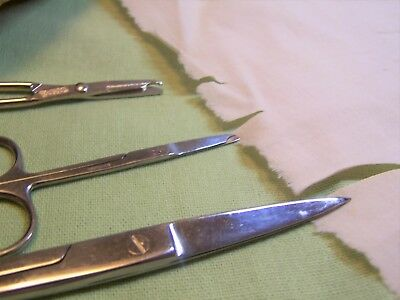 Vintage Surgical Tool Scissors and Suture Scissors, Lot of 3