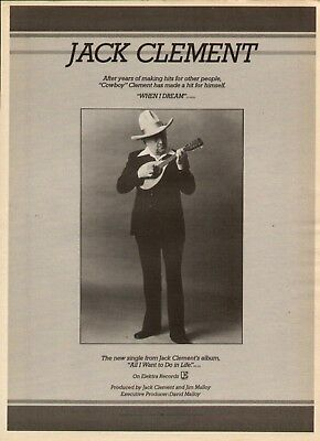 """1978 Jack """"cowboy"""" Clement """"all I Want To Do In Life"""" Album Ad"""