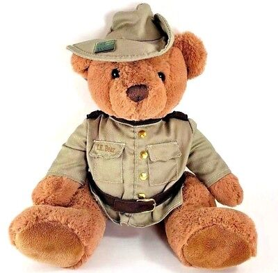 "Yellowstone National Park Plush Teddy Bear 16"" US Forest Service 100 Years Pin"