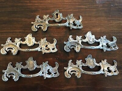 "Vintage 5 Large Keeler Brass Ornate French Provincial Drawer Pull K652 6.5"" Kbc"