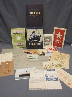 THE TITANIC COLLECTION Mementos of the Maiden Voyage Titanic Historical Society