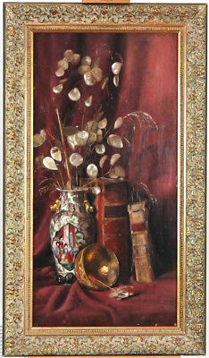 STILL LIFE WITH Fruit Antique Oil Painting Mid 19th Century British