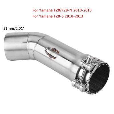 Motorcycle Full Exhaust Mid Link Pipe Muffler For Yamaha FZ8 FZ8-N FZ8-S 10-13