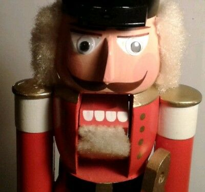 """Ulbricht Seiffener Christmas Nutcracker Soldier (Husar) Red 11"""" Made in Germany"""