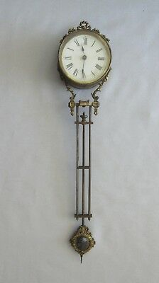 Antique Ansonia Swinging Clock Only (No Base) - Working  (Mystery Swing Swinger)