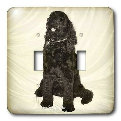 3dRose LLC lsp_4649_2 Black Dog, Double Toggle Switch