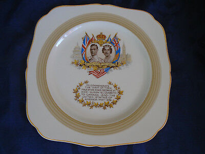 King George VI plate commemorating his visit to Canada and the United States in