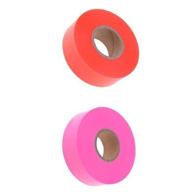 2 x 45m Flagging Tape for Boundaries and Hazardous Areas No Adhesive Tape