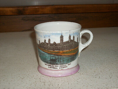 1893 Columbian Exposition Cup Mug - Electrical Building Chicago