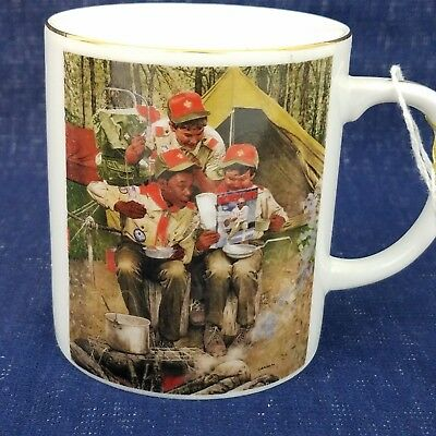 boy scouts of america 75th anniversary coffee mug cup new vintage