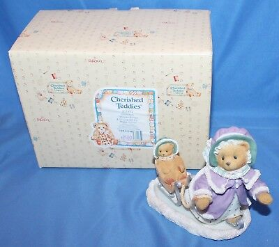 Cherished Teddies Gretchen Winter Brings A... Figurine # 203351 1997 Enesco