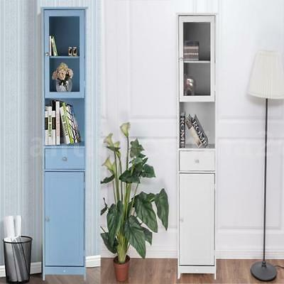 White Wood Kitchen Pantry Freestanding Cupboard Tall Storage Cabinet